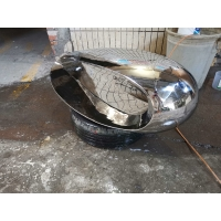 China Stainless Steel Abstract Stone Sculpture , Mirror Abstract Yard Sculptures wholesale