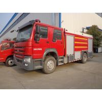 China Emergency Rescue Fire Truck , HOWO 8 Tons Foam Fire Truck Good Performance wholesale