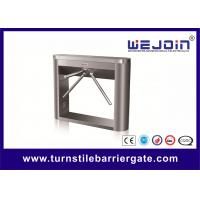 China Waist High Tripod Turnstile Barrier Gate Stainless Steel For Restaurants , Hotel wholesale