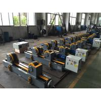Automated Bolt Adjust Pipe Welding Rollers Rubber Wheels , VFD Control