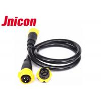 China 4 Pin Yellow IP67 Power Connector 500V 20A Soldering Type Male Female wholesale