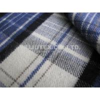 China Soft Handfeel Light Brushed Twill Weave Yarn Dyed 100% Dyeing Acrylic Fabric wholesale