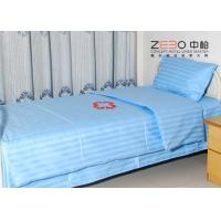 China 100% Cotton Stripe Flat Hospital Bed Sheet Disposable Light Blue Color BS-11 wholesale