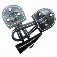 China Fashion Frog Button for Coat/Garment, Made of Fake Leather, with Plastic Toggles wholesale