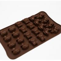 China Animal Shaped Silicone Chocolate Molds Unique Deisgn For Kids Children wholesale