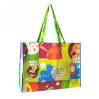 China Colorful Recycled Non Woven Bag / Canvas Shopping Bag With silk screen Printing wholesale