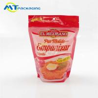 China Beautiful Printing Stand Up Gusseted Pouch Anti Leakage For Breading Packaging on sale