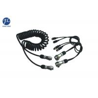 China 7 Pin Retractable Coiled Electrical Wire For Car Surveillance Camera System wholesale