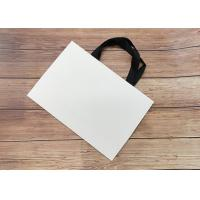 China Cardboard Paper Shopping Bag Eco-friendly Strong sealing bottom SGS,FDA ceritified with black silk ribbon Handle wholesale