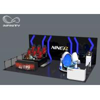 Quality 9D Virtual Reality Theme Park Equipment , Multiplayer Shooting VR Space Standing for sale