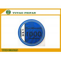 China Blue K WORLD Laser Custom Ceramic Poker Chips Design 1000 Denomination wholesale