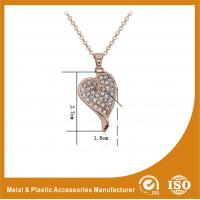 China Customized Zinc Alloy Gold Heart Metal Chain Necklace For Women Gift wholesale