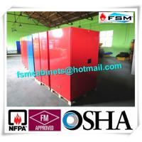 China Red Flammable Paint Storage Cabinets Adjustable Shelf For Chemical Hazardous wholesale