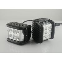 "China 45W 4.5"" Square Vehicle LED Work Lights 3800 Lumen , Black Housing Colors wholesale"