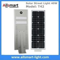China 30W Aluminum Solar Street Light All in One Integrated Solar LED Street Light Motion Sensor Solar Driveway Lights Roadway wholesale