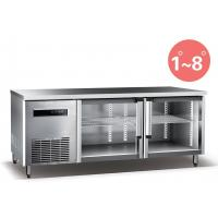 China Refrigerated Work Table For Kitchen 660L Commercial Refrigerator Freezer R134a Fan Cooling wholesale