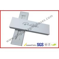China Matt White watch band box , Pre-assembled jewelry package with white velvet tray wholesale