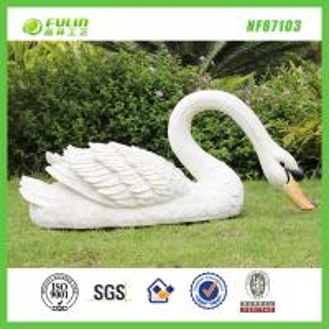 China Resin Animal Decoration Garden Swan Statue on sale