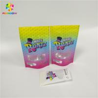 China Small Runtz White Foil Packaging Bags Childproof Laser Holographic Zip Lock Type wholesale
