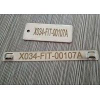 China Antirust Cable Identification Tags , Stainless Steel Cable Labels With Lasering Numbers wholesale