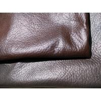 China Real Brown Recycled Leather Fabric Genuine Leather Upholstery Fabric wholesale