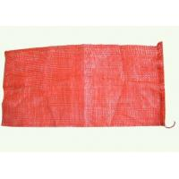China Custom Plastic PP Woven Leno Mesh Net Bags For Firewood , Onion , Garlic wholesale