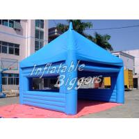 China Custom Blue PVC Inflatable Outdoor Tent Powerful Blower For Exhibition Show wholesale