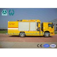 Yellow Large Flow Drainage rescure truck With Anti Slip Handrails HOWO