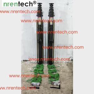 China 10m manual crank winch telescopic mast/ push telescoping mast/ aluminum telescoping mast on sale