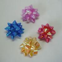 Quality Rainbow Pattern Ribbons And Bows 4 Inch Diameter Big Size Star Bow for sale