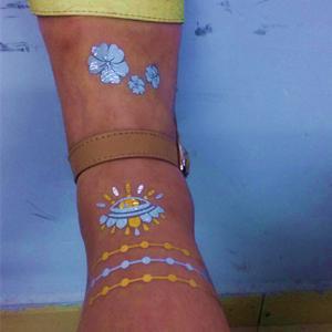 China Water transfer skin art Metallic Tattoo Jewelry gold removable tattoos wholesale