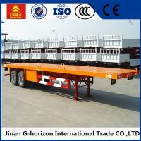 Buy cheap Double Axles 20ft 40ft Flat Bed Semi Trailer 2 axles container semi truck flatbed from wholesalers