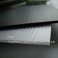China Low Price PP Correx Corrugated Fluted Plastic Floor Protection Sheets on sale