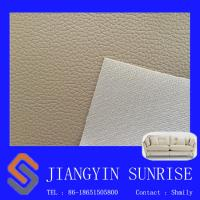 China 0.7mm Sofa Synthetic Leather For Furniture Upholstery / Soft Chair Pvc Leather Fabric wholesale