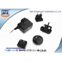 China Interchangeable 5V 1A AC DC Power Adapter CE CB GS UL FCC PSE ROHS RCM wholesale