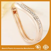 China Gift / Decoration Zircon Gold Metal Bangles , Gold Bracelets Bangle wholesale