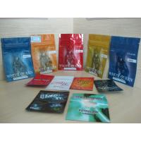 China Aluminum Foil Ziplock Herbal Incense Packaging / Smokeless Tobacco / Chewing Tobacco Bags wholesale