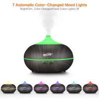 China Home Beautiful Wood Grain Essential Oil Diffuser Air Humidifier 4 Times Setting For Office Room wholesale