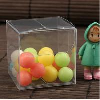 China plastic clear PVC box 3*3*3cm for candy stored and gift pakcaging wholesale