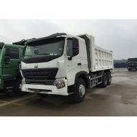 China White Color Sinotruk Howo Dump Truck High Fuel Efficiency 30 - 40 Tons For Mining on sale