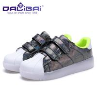 China Buckle Strap LED Casual Shoes Led Light Up Shoes For Kids , 4 Colors wholesale
