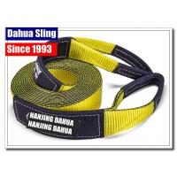 China High Tensile 4X4 Off Road Tow Strap , Recovery Winch Extension Tow Hook Strap wholesale