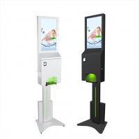 China Battery Operated 21.5 inch hand sanitizer digital signage with thermal printer wholesale