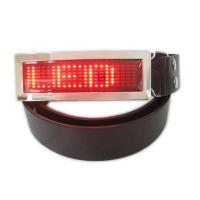 China LED runing signs and message belt buckle wholesale