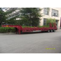 China Heavy Duty 60 Tons Low Bed Truck Trailer , Platform Semi Trailer For Excavator Transportation wholesale