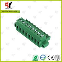 China PA66 Material Connector Plug in Terminal Block 0.4Nm Torque  2.5mm² wholesale