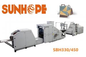 China SUNHOPE 230 bags min Square Bottom Leisure Food Bags Paper Pouch Making Machine on sale