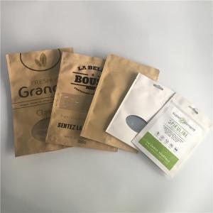 China Scrub Packaging Customized Paper Bags Aluminum Foil Stand Zip Lock Kraft Paper Mylar Type wholesale