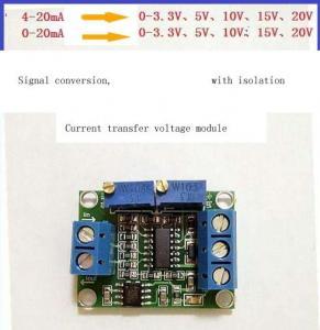 China Current to voltage conversion module signal conversion conditioning 0~5v 3.3V 10V 15V 4~20ma transmitter wholesale