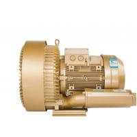 China Three Phase Regenerative Air Blower , High Pressure Ring Blower In Gold Color wholesale